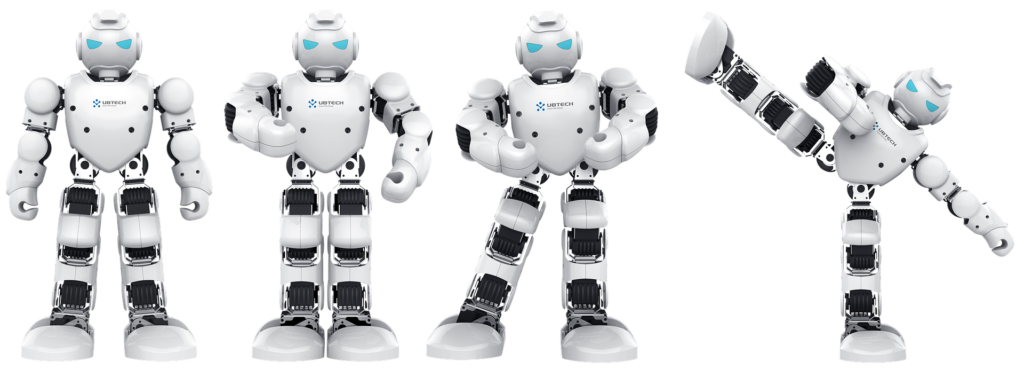 4 black and white robots with blue eyes, in various poses. All are dancing. The last Robot is doing a high side kick and looks like he is about to fall over! Read below to find more about managing your social media content better.
