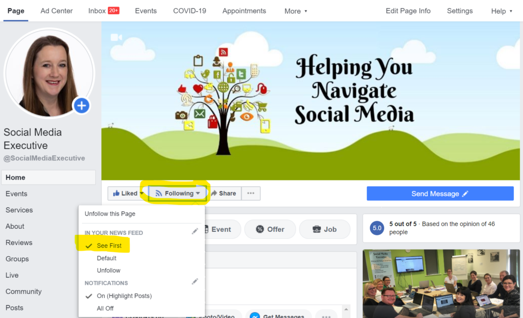 Great way of saving time is to check see first button on your Facebook feed. Here is a screen grab of how to see first peoples, businesses and more importantly competitors!