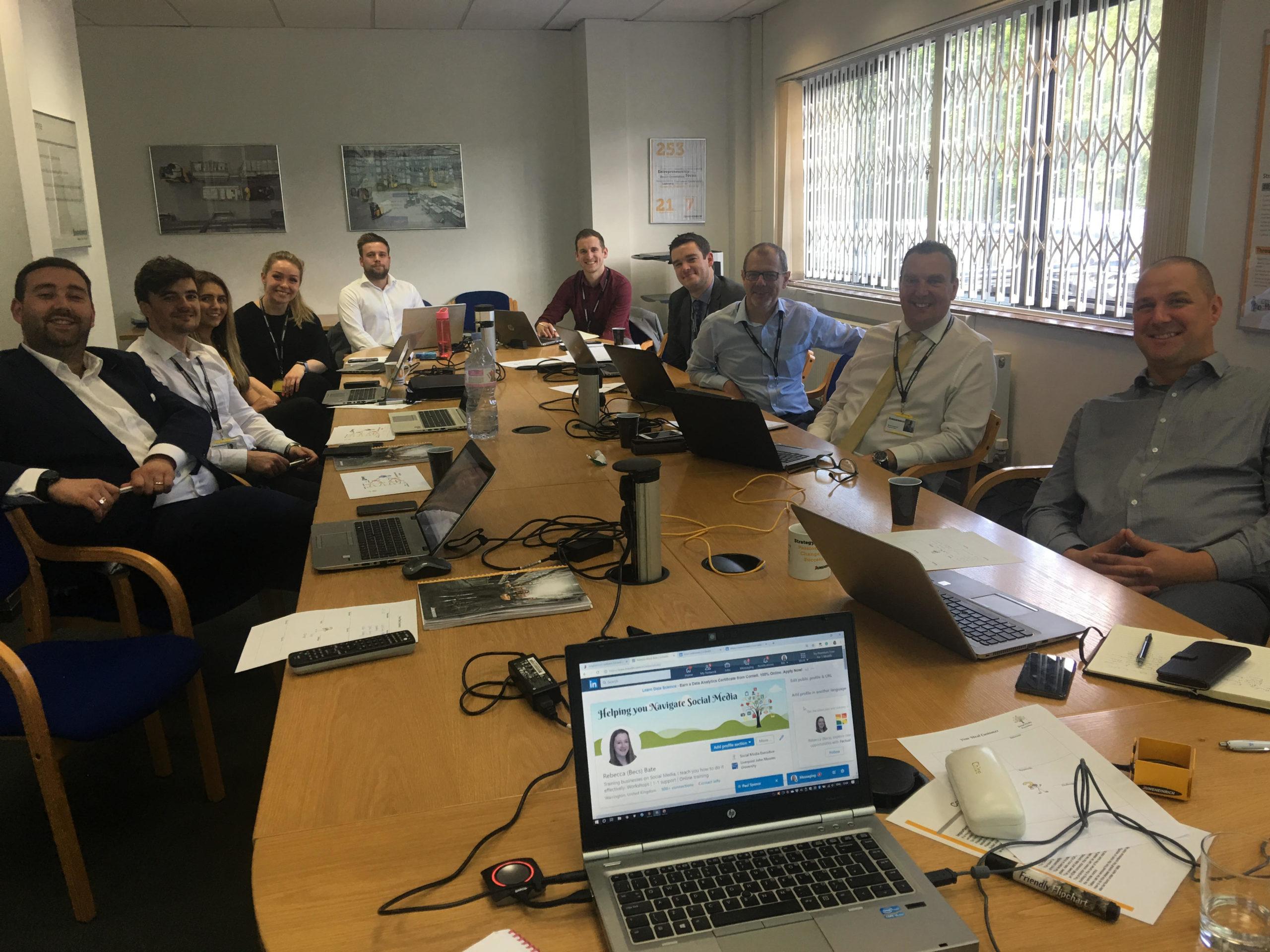 LinkedIn training session at Junheinrich
